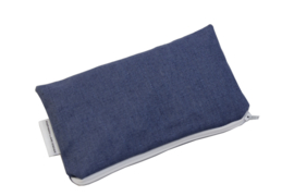 Linen denim blue cosmetic bag, Nilsen