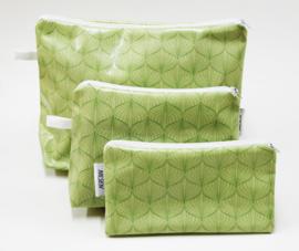 'Lampion', green cosmetic bag NILSEN