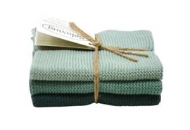 Wash cloth Solwang Design, antique green