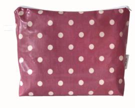 Dot dark pink, wash bag NILSEN