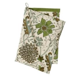 Tea  towel Bungalow, green