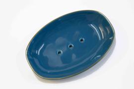 Blue soap dish