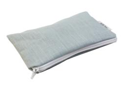 Linen, light blue, cosmetic bag