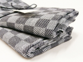 Black checked kitchen towels