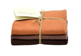 Wash cloth Solwang Design, brown
