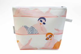 Cotton fabric toiletry bags