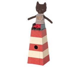 Cat in light house, Maileg