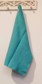 Turquoise, knitted towel solwang