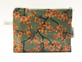 'Blossom' minty green,  make-up bag NILSEN