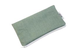 Linen, Mint, cosmetic bag