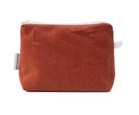 Linen terra make-up bag, Nilsen