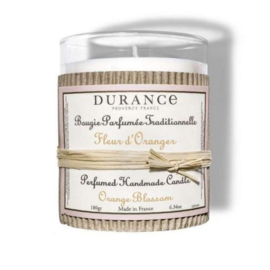 Fleur d'Oranger scented candle, handmade by Durance