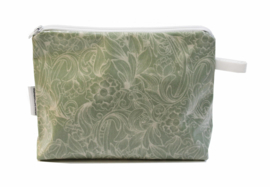 'Renaissance' green make up bag
