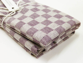 Purple checked kitchen towels