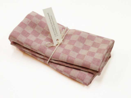 Antique pink checked tea towels, Axlings