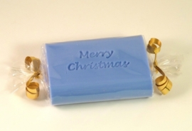 Merry Christmas soap, blue