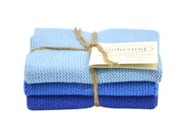 Wash cloth Solwang Design, blue
