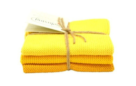 Wash cloth Solwang Design, yellow