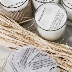 Fresh Linen scented candle, handmade by Durance