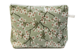 'Blossom' Dusty Green,wash bag