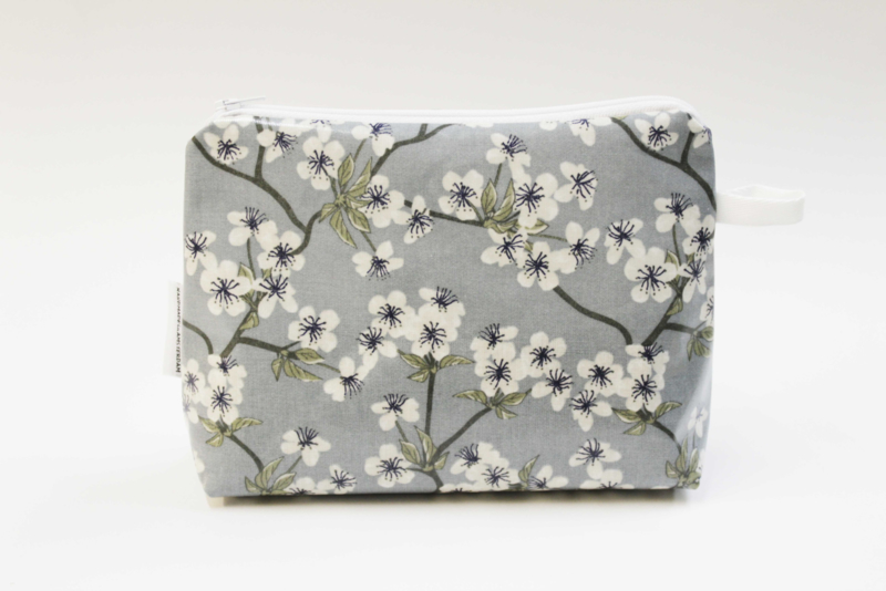 'Blossom' dusty blue make-up bag, Nilsen