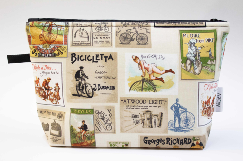 'Bicyles' wash bag