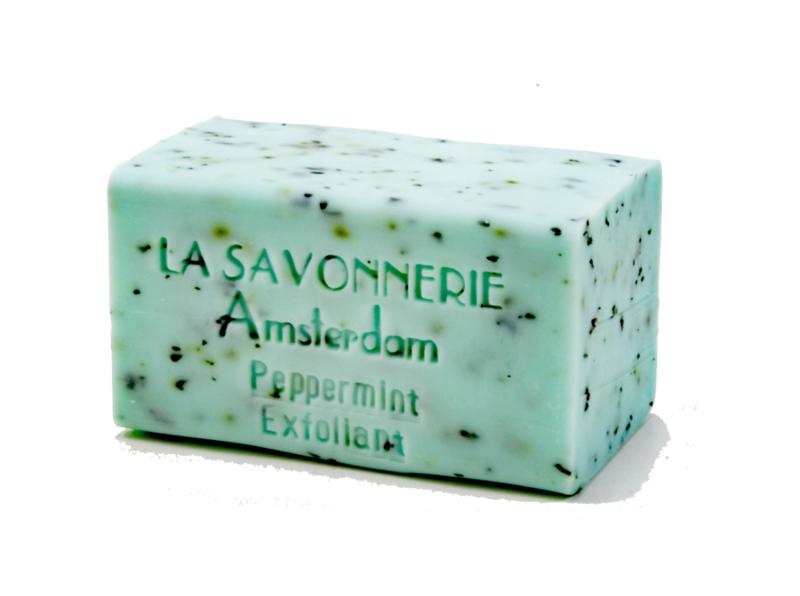 Peppermint, exfoliating soap