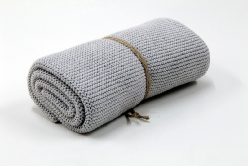 Knitted towel Solwang Design, light grey