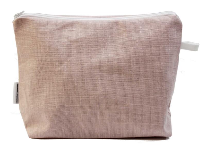 Linen light pink, wash bag NILSEN