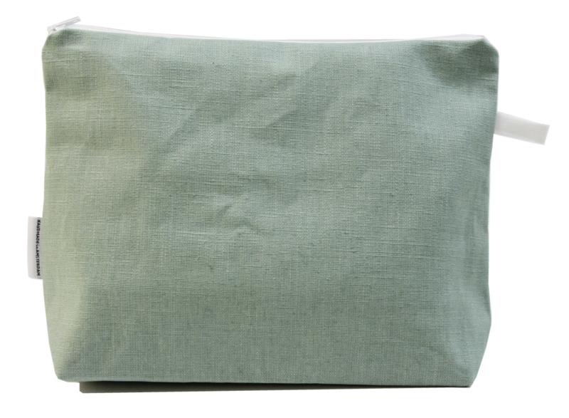 Linen, Mint, wash bag