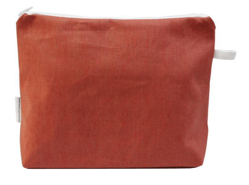 Linen terra, wash bag NILSEN