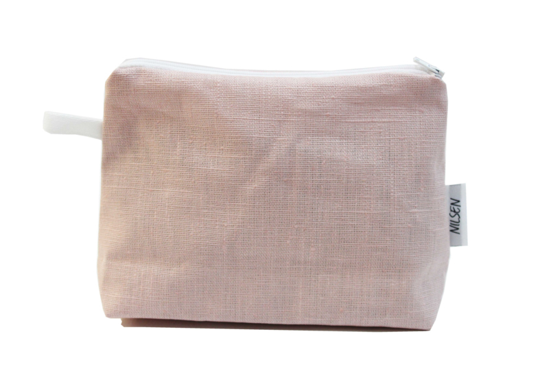 Linen , Light pink, bag (M)