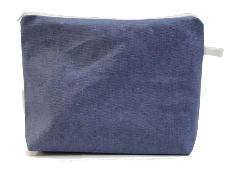 Linen, Denim wash bag