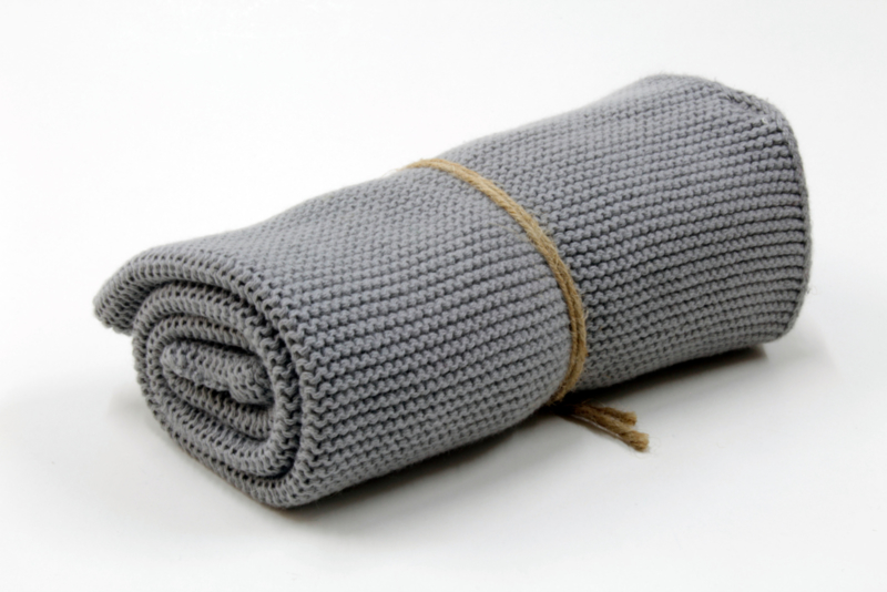 Medium Grey, Knitted towel solwang