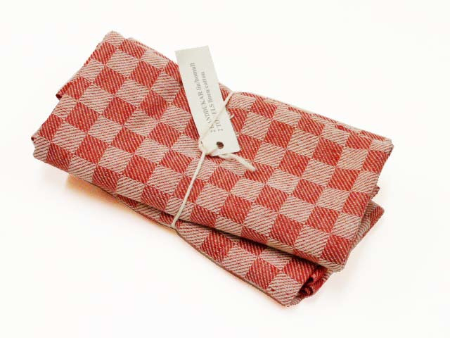 Red checked kitchen towels