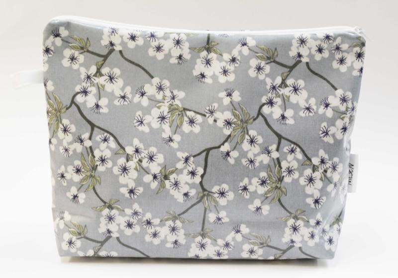 'Blossom' dusty blue,wash bag