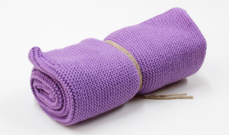Knitted towel Solwang Design, light purple