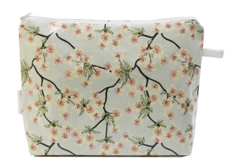 'Blossom' light blue wash bag