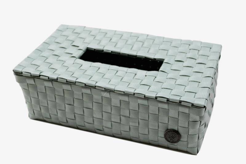 Tissue box, greyish green
