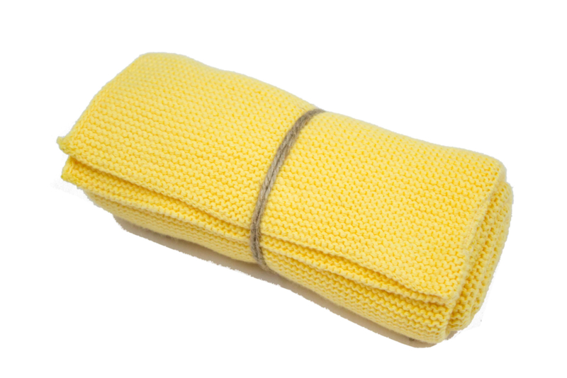 Knitted towel Solwang Design, warm yellow