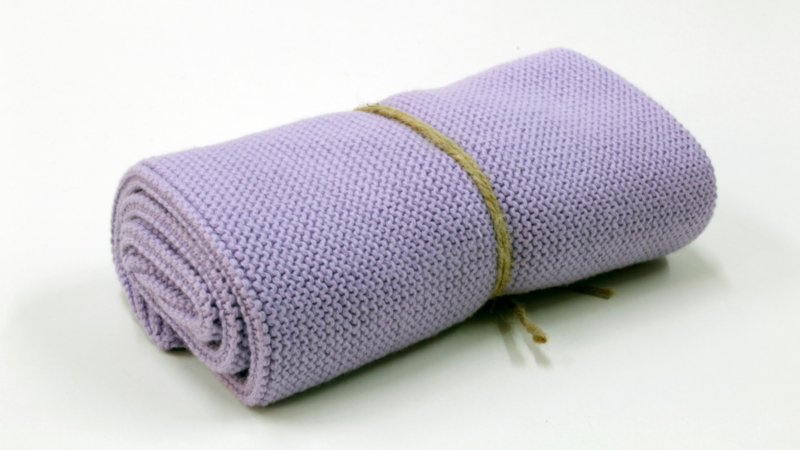 Knitted towel Solwang Design, lilac