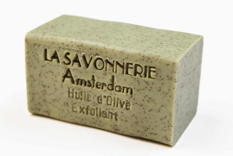 Olive oil, exfoliating soap