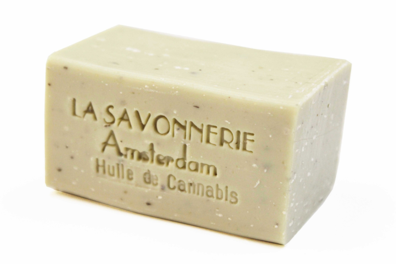 Cannabis, exfoliating soap
