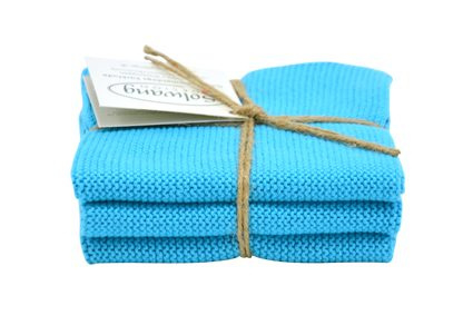 Wash cloth Solwang Design, turquoise