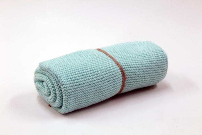 Aqua, knitted towel solwang