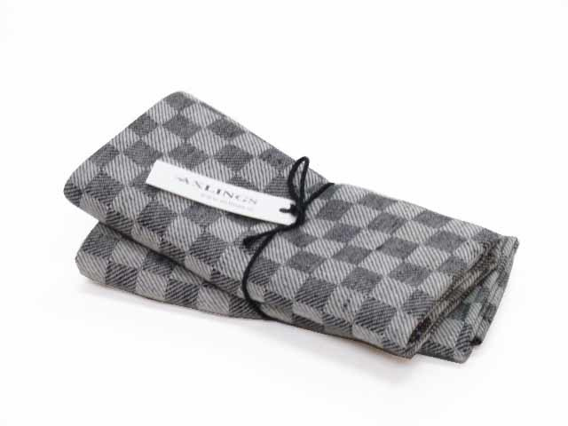 Almost black checked tea towels, Axlings