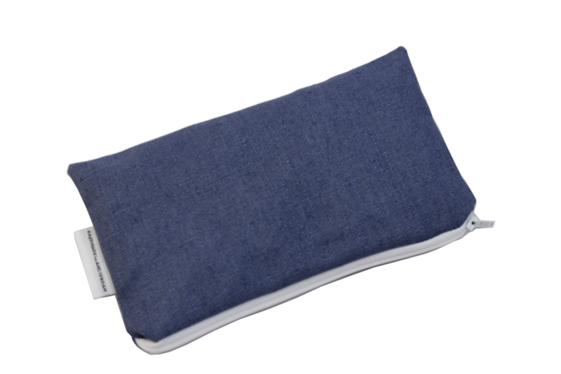 Linen, Denim, cosmetic bag