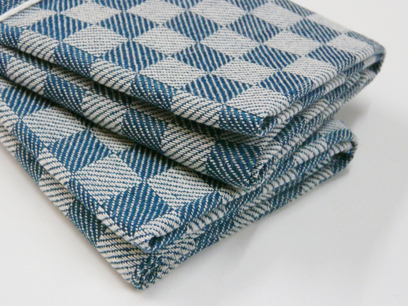 Petrol checked kitchen towels