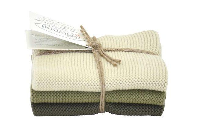 Wash cloth Solwang Design, olive