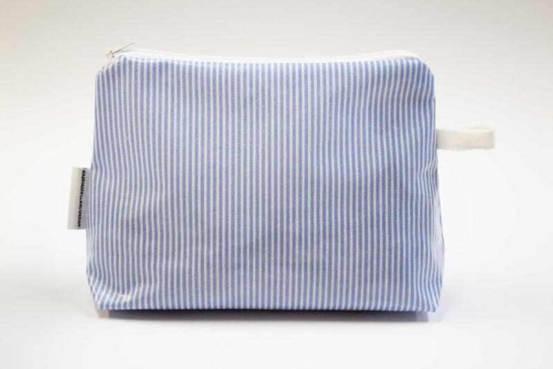 'Mini stripe blue' medium bag